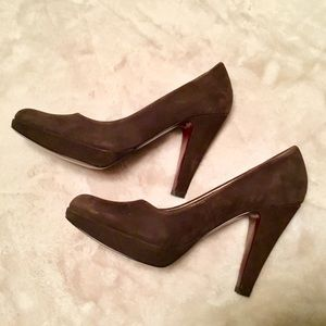 Marc Fisher Brown Suede Platform Mimi Pumps - 6.5